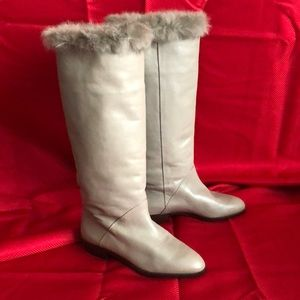 Taupe tall ladies boot